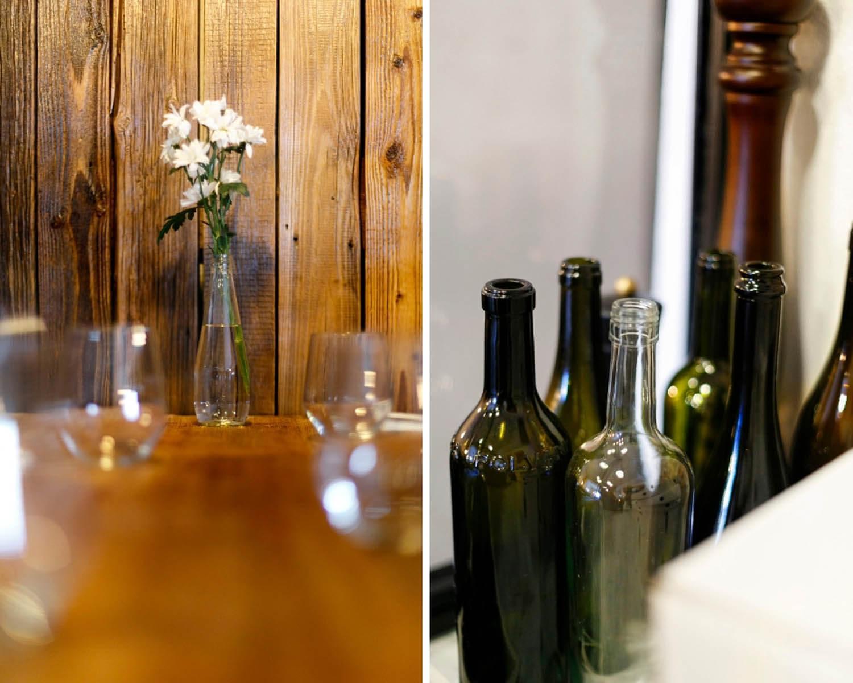 Zdjęcie detali we wnetrzu włoskiej restauracji w Krakowie
