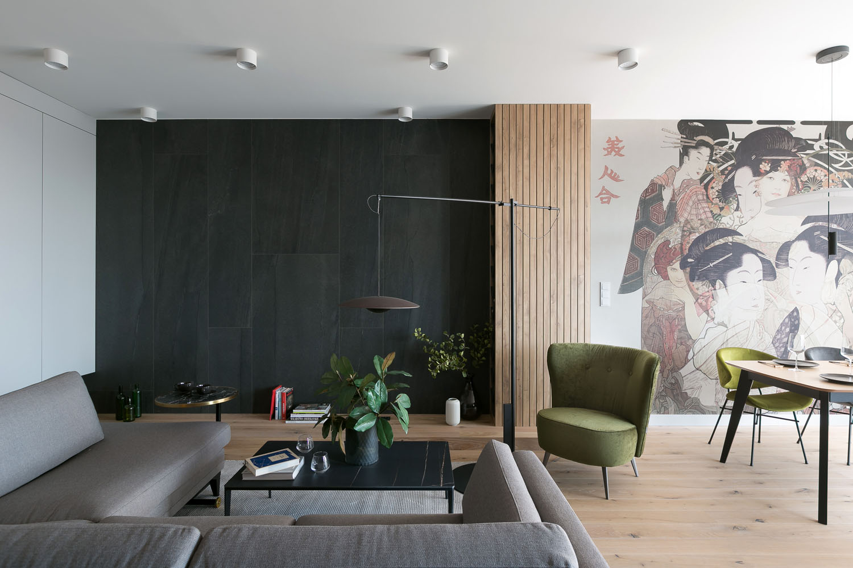 apartament w stylu japońskim, fotografia wnętrz kraków, wnetrza kraków, www.wnetrzakrakow.pl